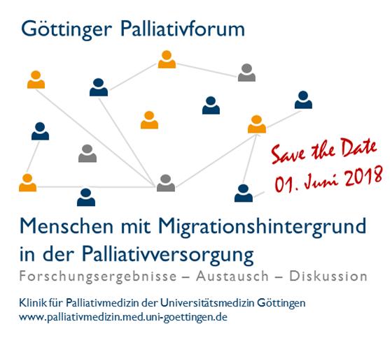 Logo Göttinger Palliativforum: Menschen mit Migrationshintergrund in der Palliativversorgung